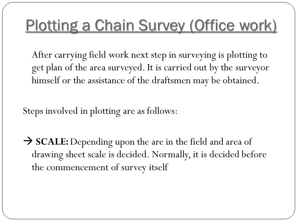 Plotting a Chain Survey (Office work)