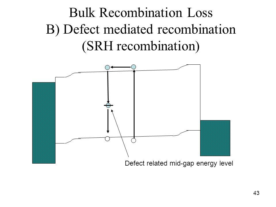 Bulk Recombination Loss