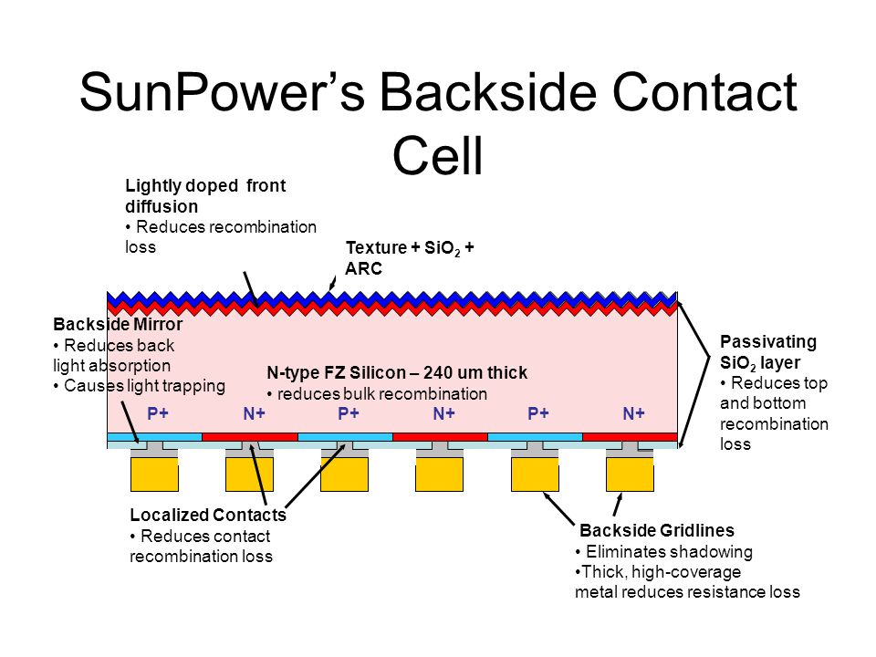 SunPower's Backside Contact Cell
