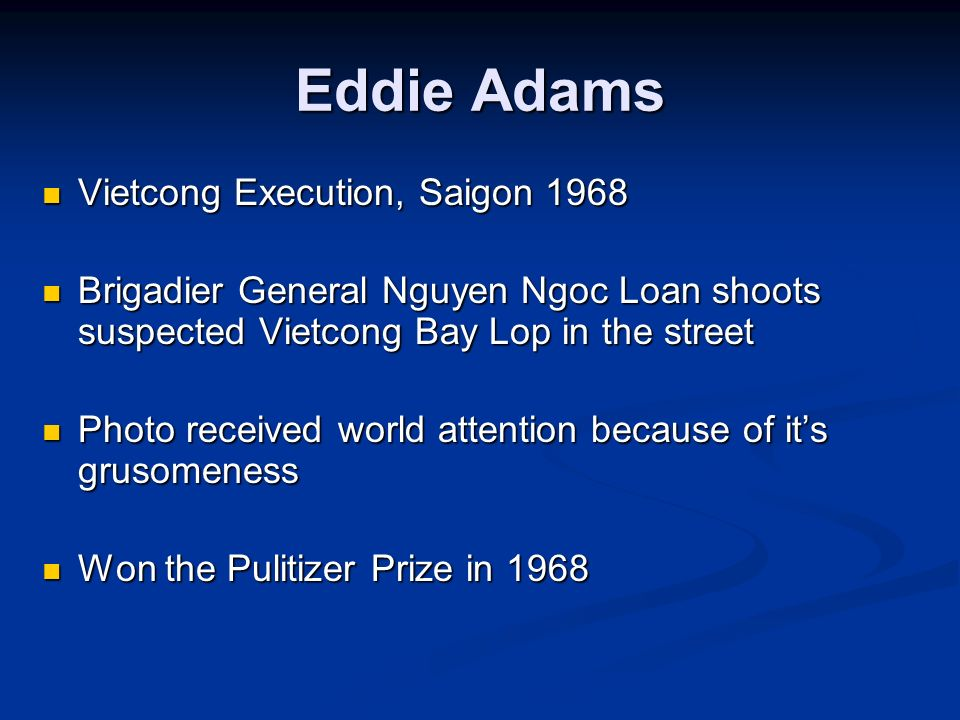 Eddie Adams Vietcong Execution, Saigon 1968