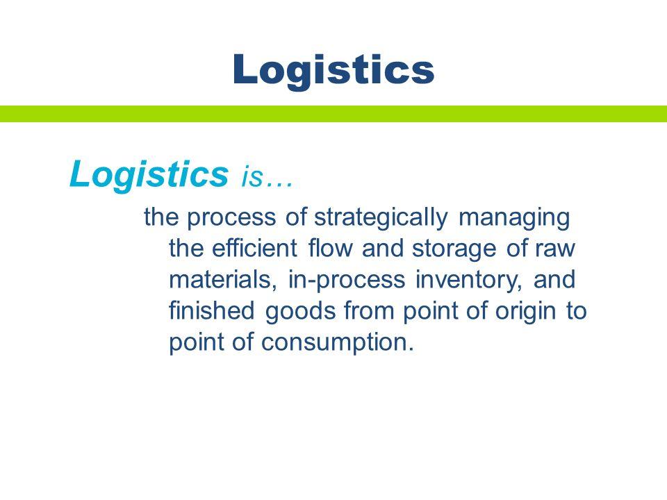 Logistics Logistics is…