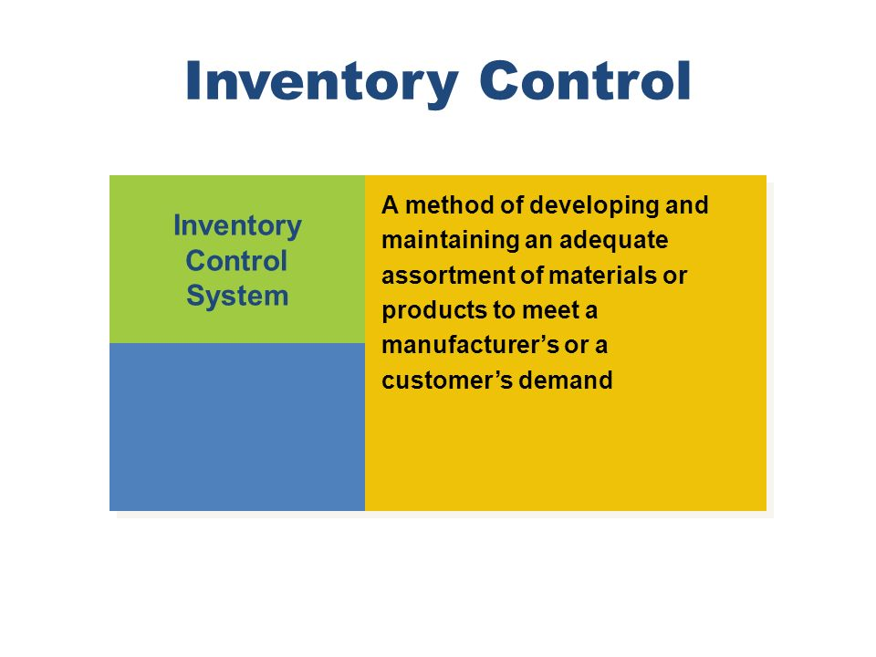 Inventory Control Inventory Control System