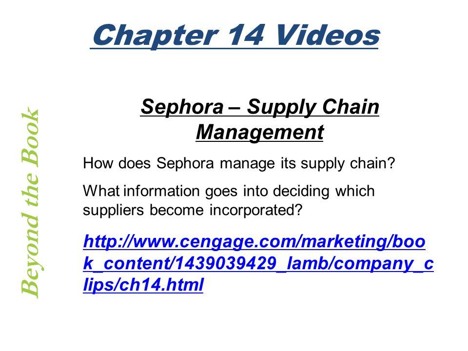 Sephora – Supply Chain Management