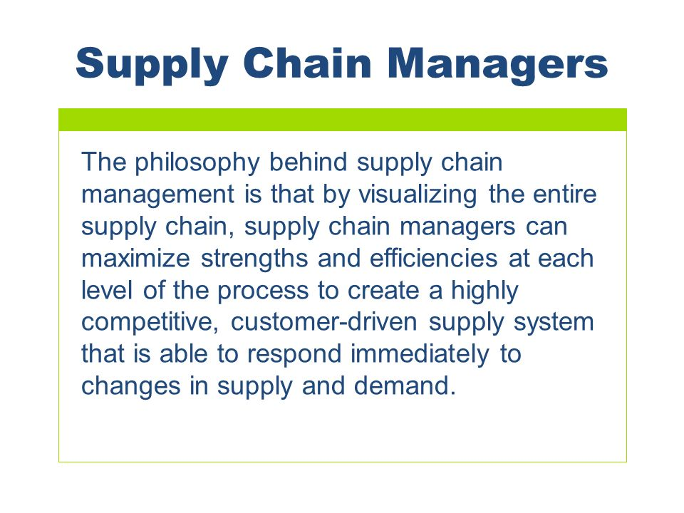 Chapter 14 Supply Chain Management