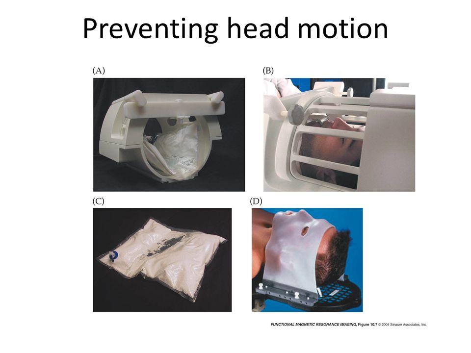 Preventing head motion