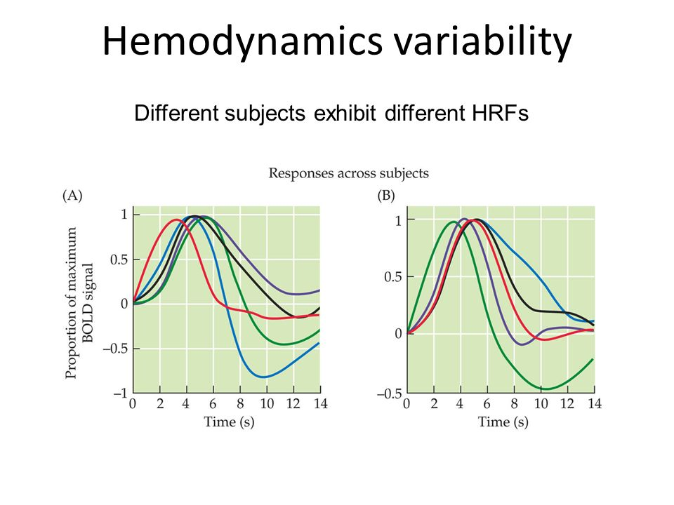 Hemodynamics variability