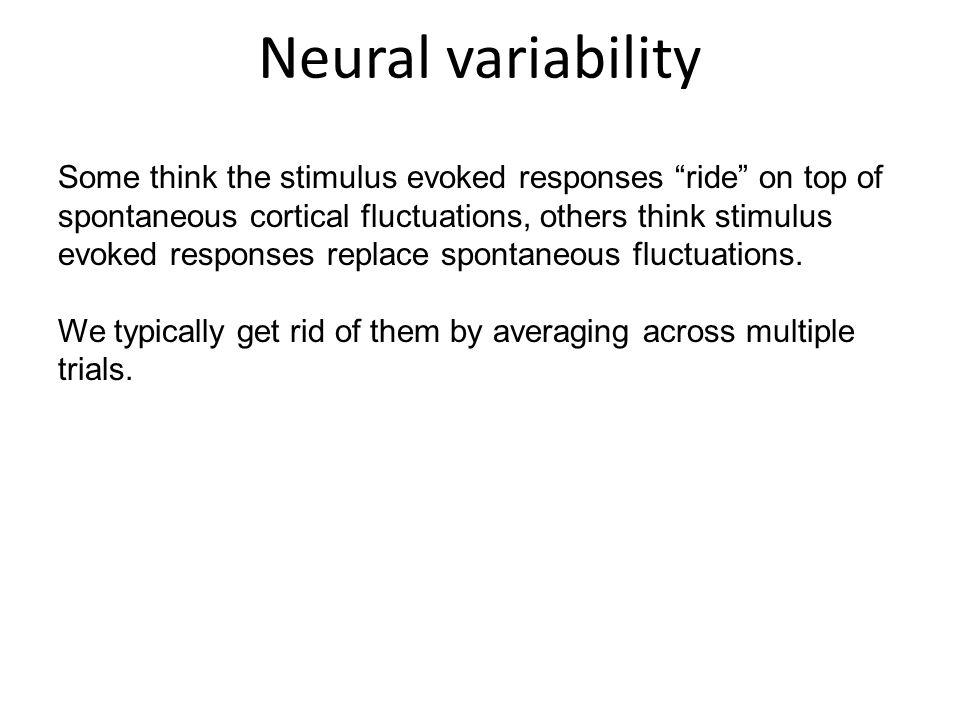 Neural variability