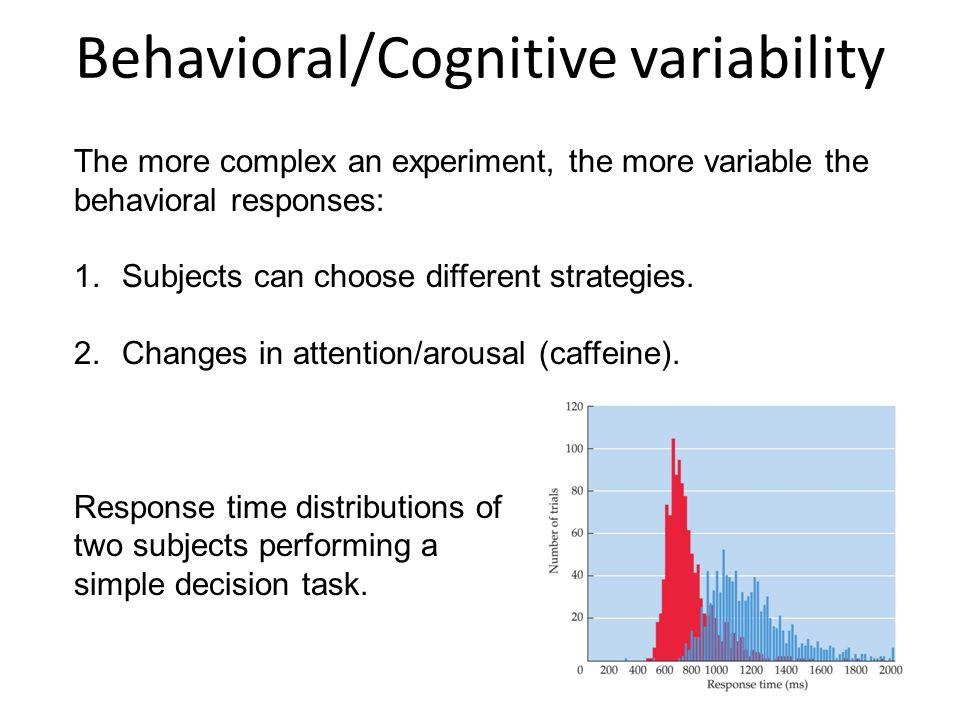 Behavioral/Cognitive variability