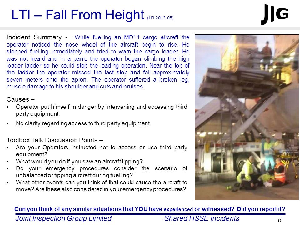 LTI – Fall From Height (LFI 2012-05)