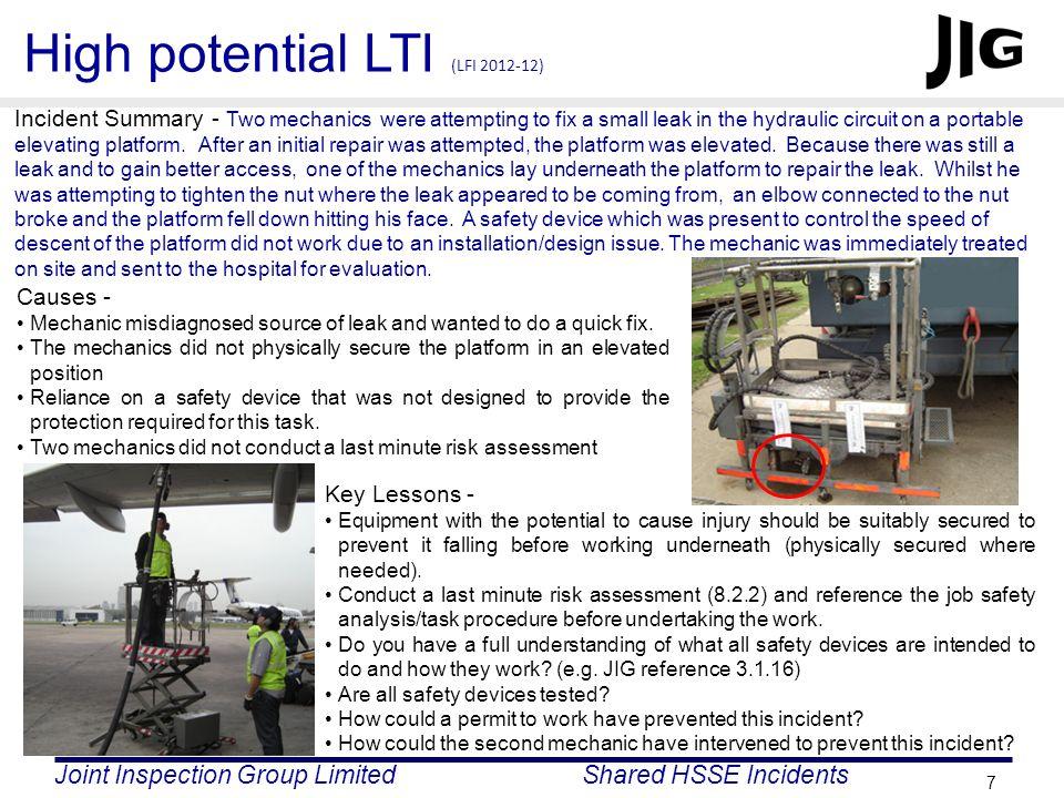 High potential LTI (LFI 2012-12)