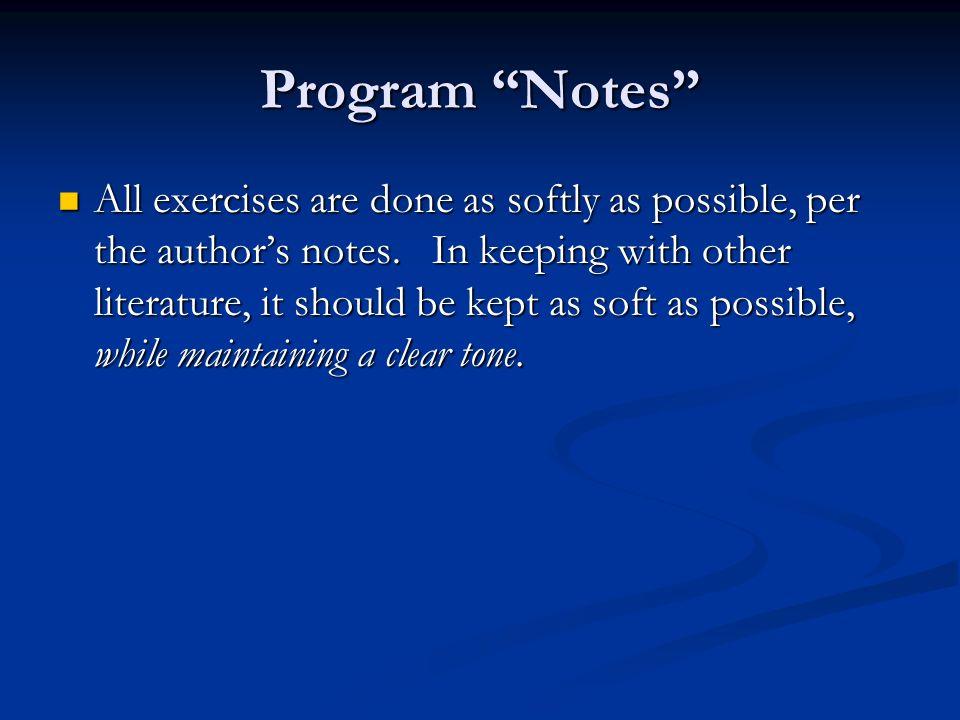 Program Notes