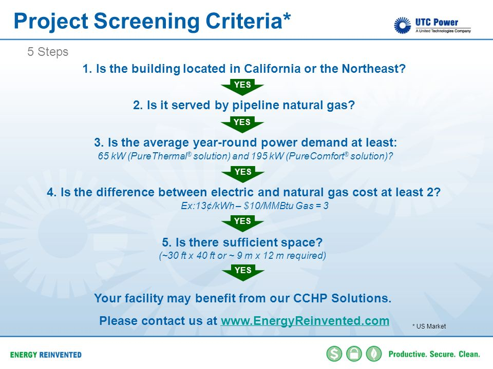 Project Screening Criteria*