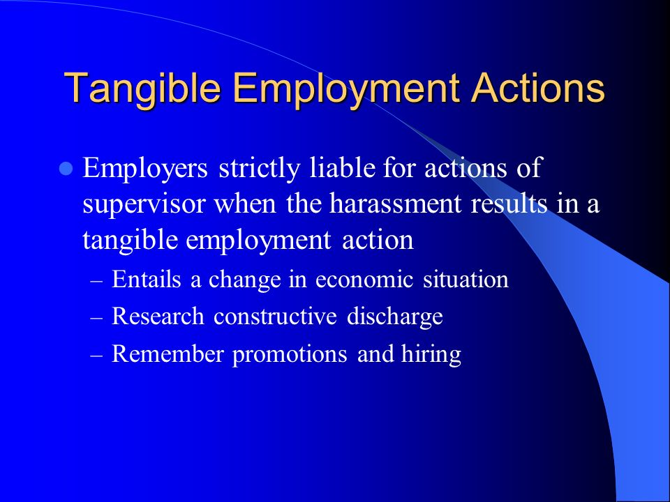Tangible Employment Actions