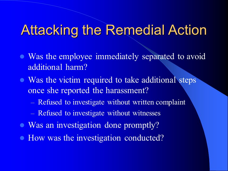 Attacking the Remedial Action