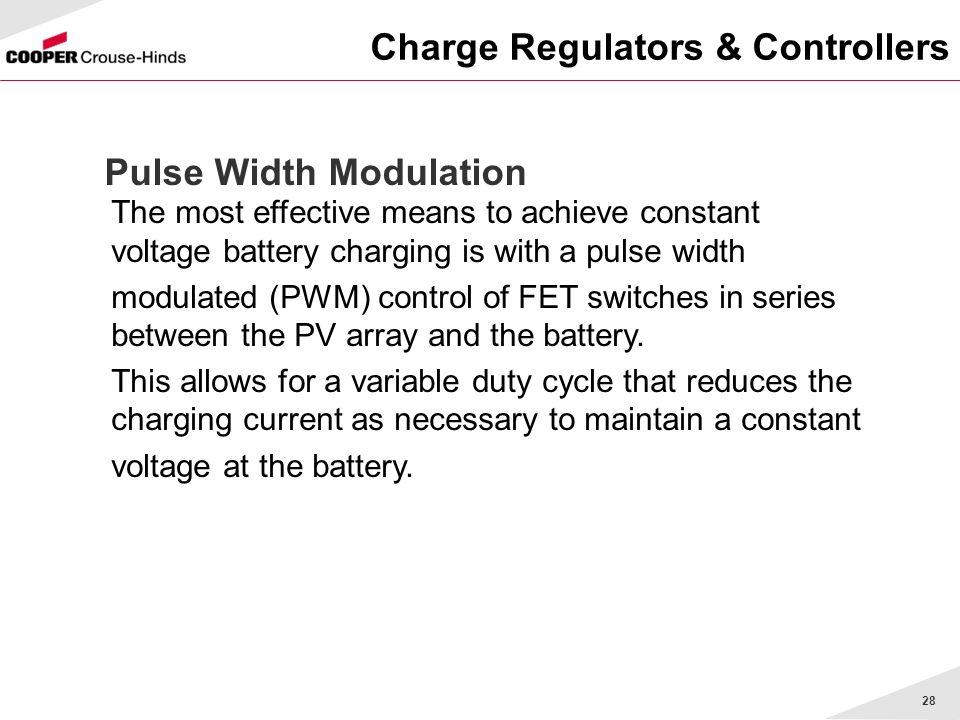 Charge Regulators & Controllers