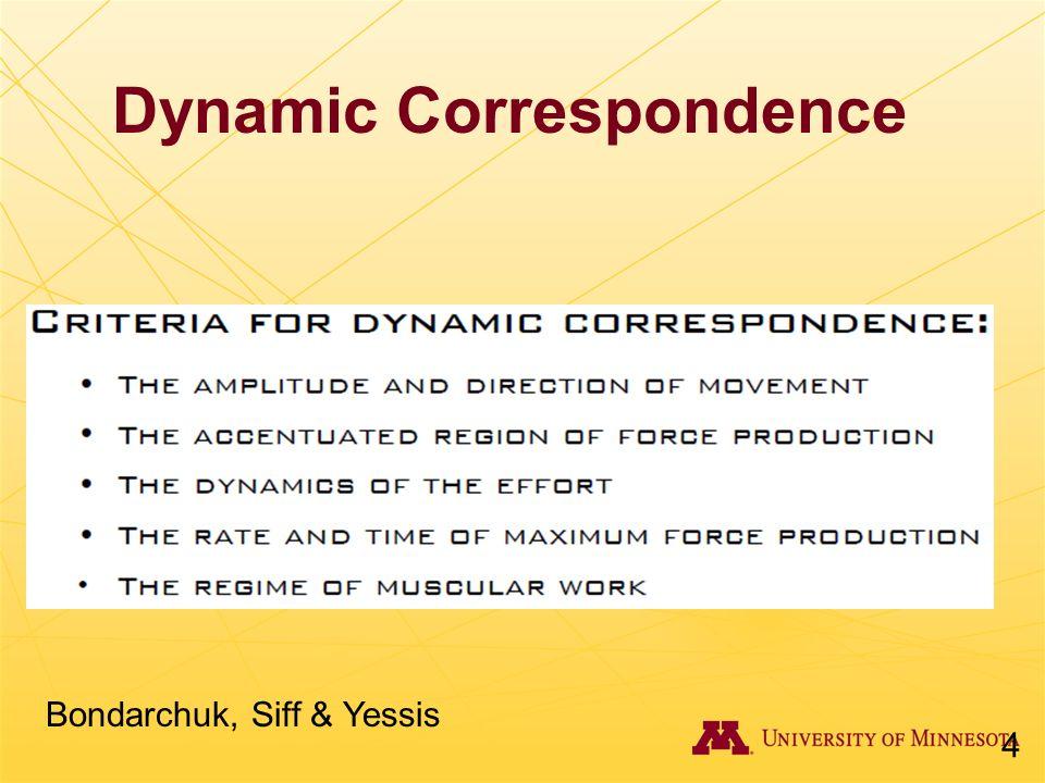 Dynamic Correspondence