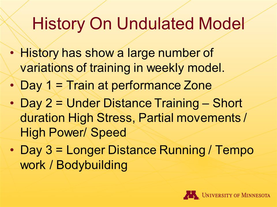 History On Undulated Model