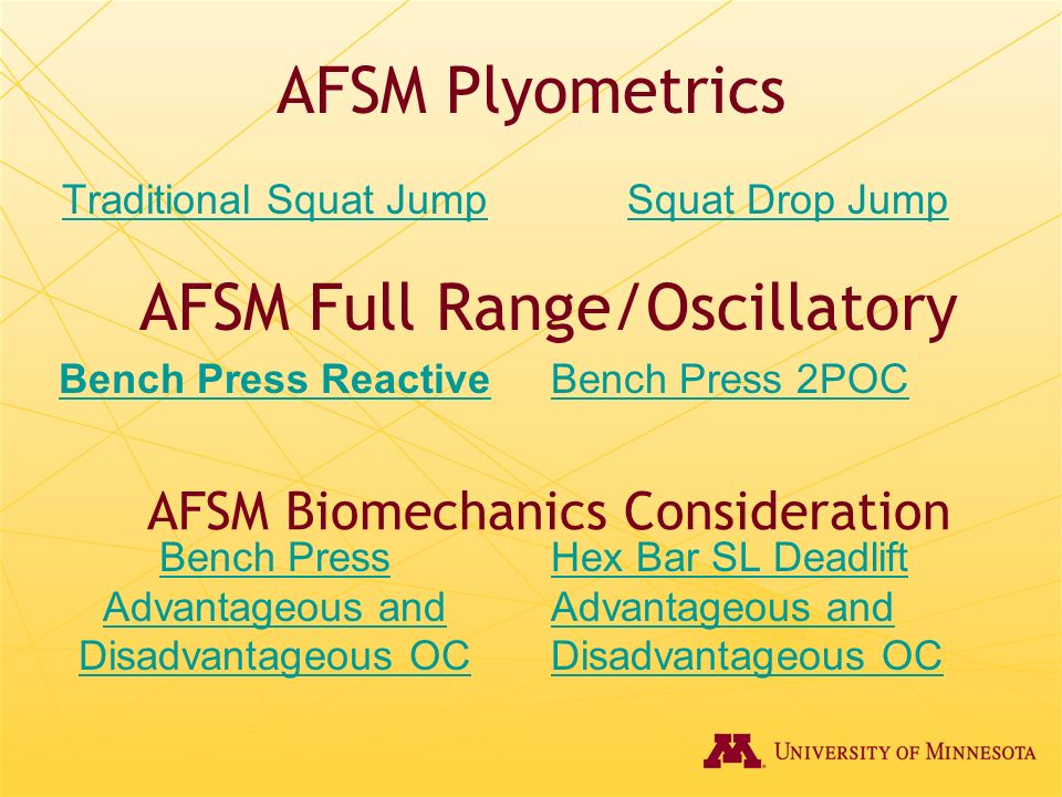 AFSM Full Range/Oscillatory
