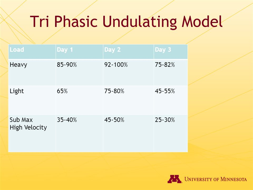 Tri Phasic Undulating Model
