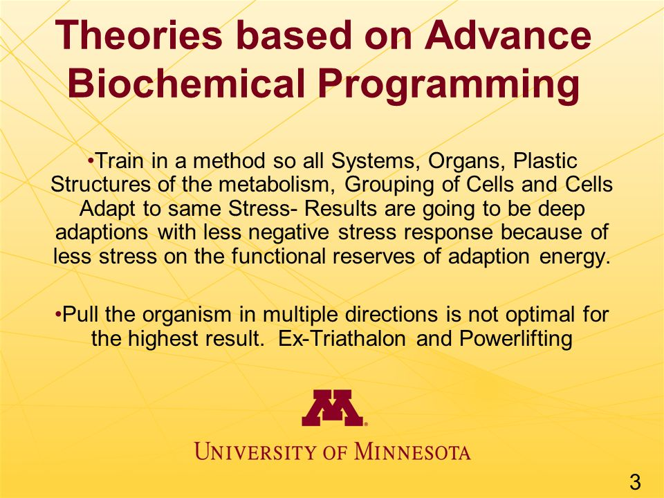 Theories based on Advance Biochemical Programming