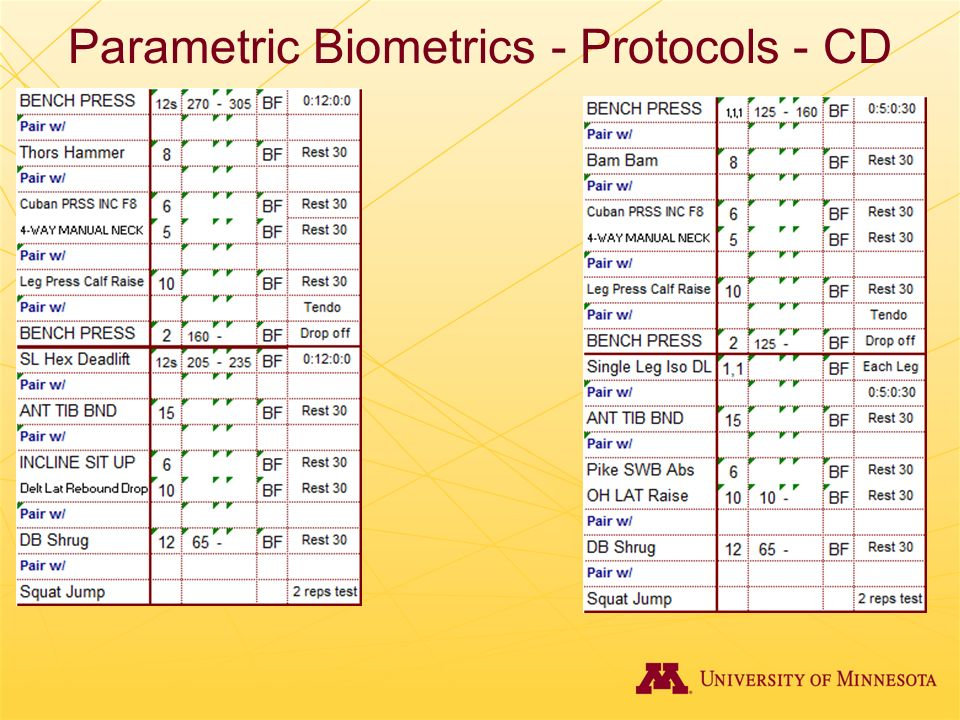 Parametric Biometrics - Protocols - CD