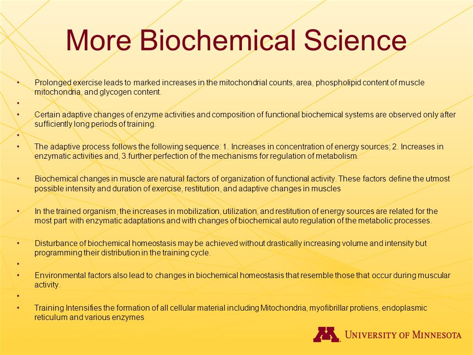 More Biochemical Science