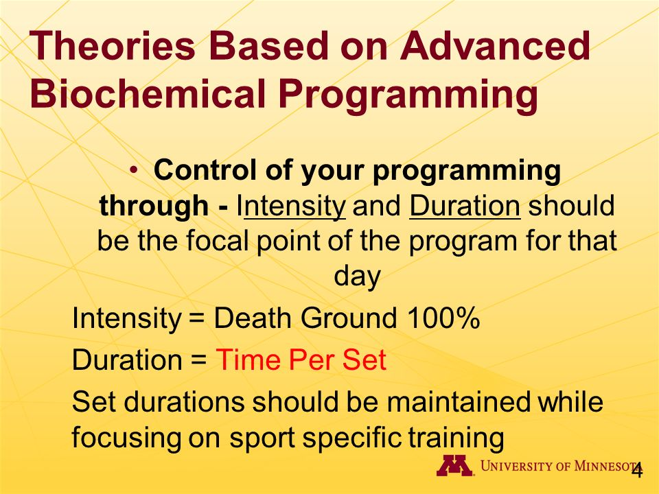 Theories Based on Advanced Biochemical Programming