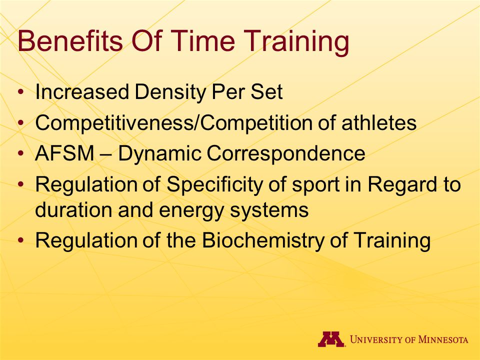 Benefits Of Time Training