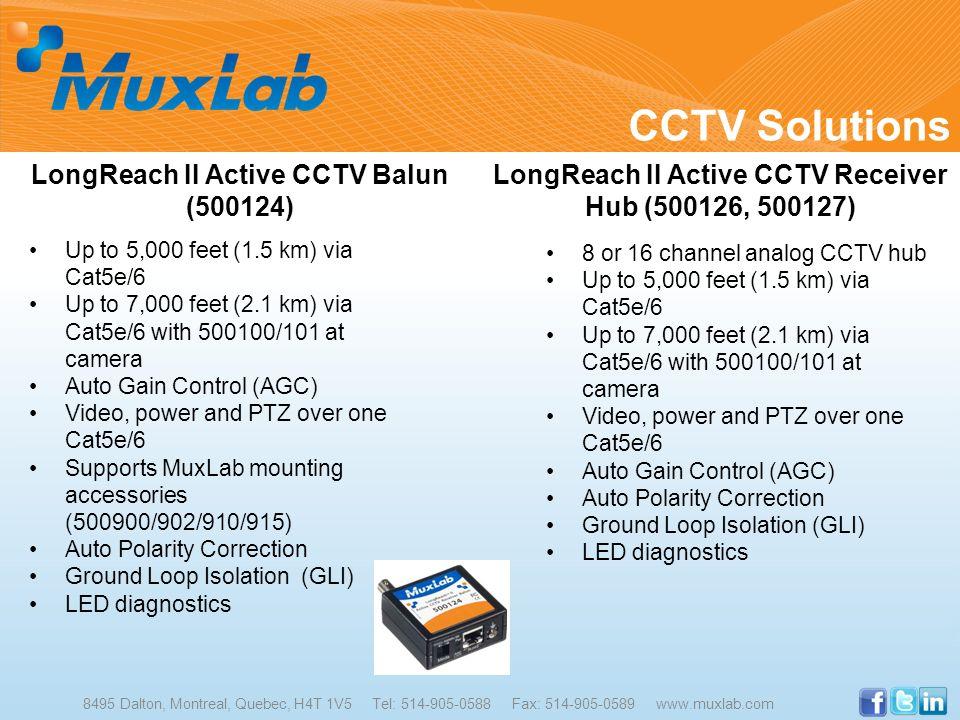 CCTV Solutions LongReach II Active CCTV Balun (500124)