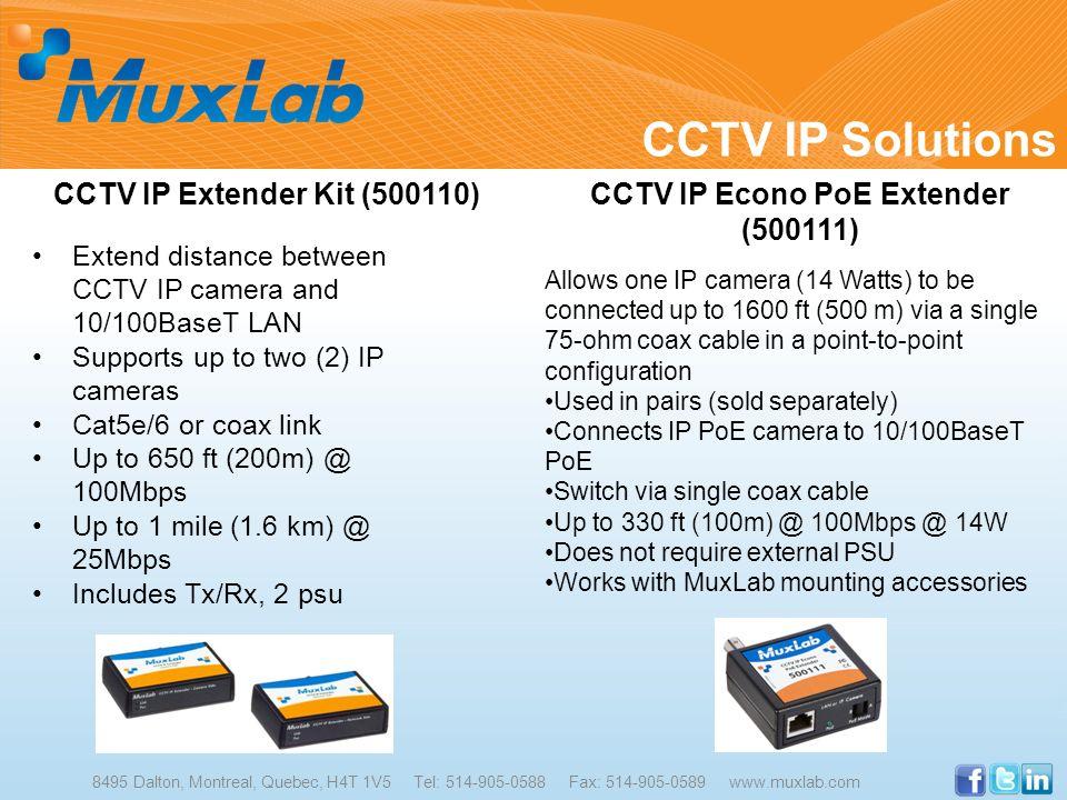CCTV IP Econo PoE Extender (500111)