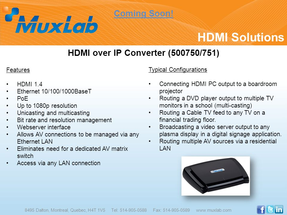 HDMI over IP Converter (500750/751)