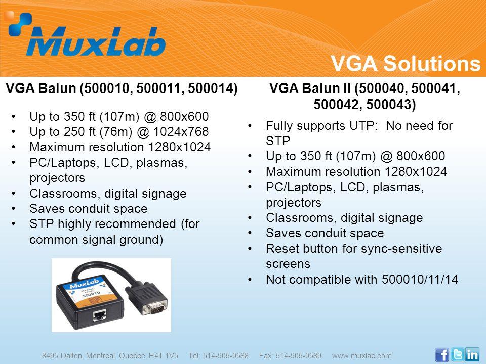 VGA Solutions VGA Balun (500010, 500011, 500014)