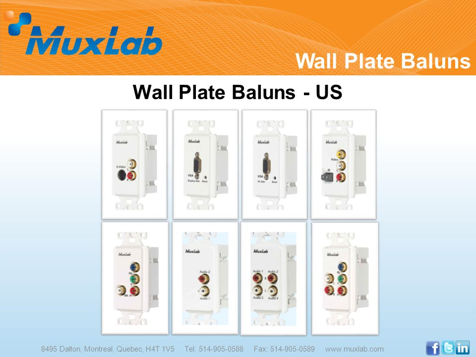 Wall Plate Baluns Wall Plate Baluns - US