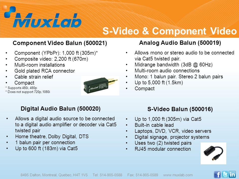 Component Video Balun (500021)