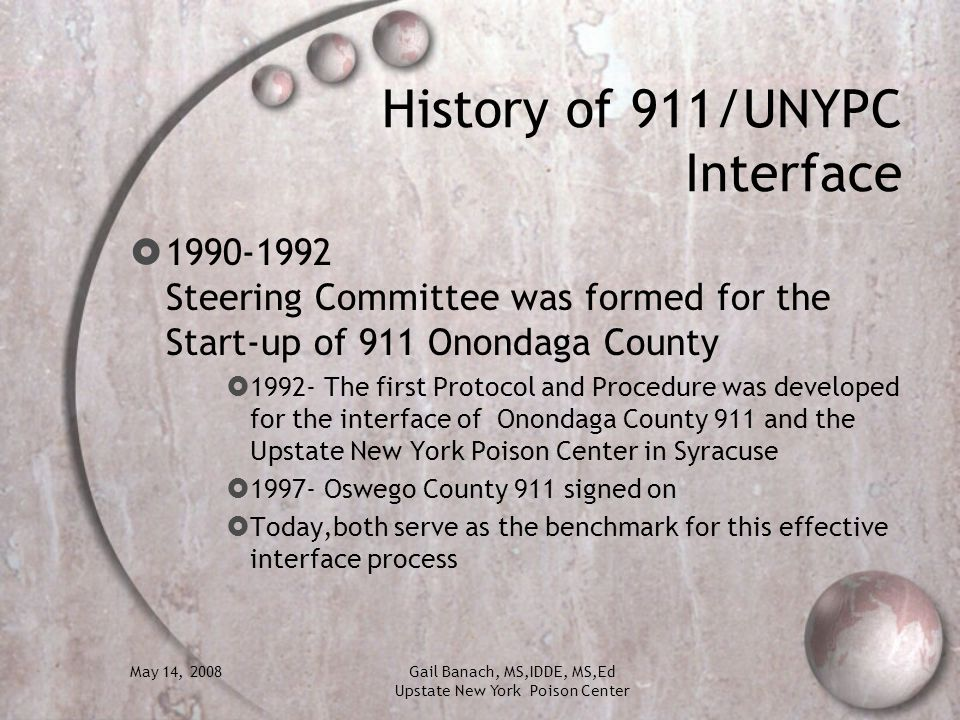 History of 911/UNYPC Interface