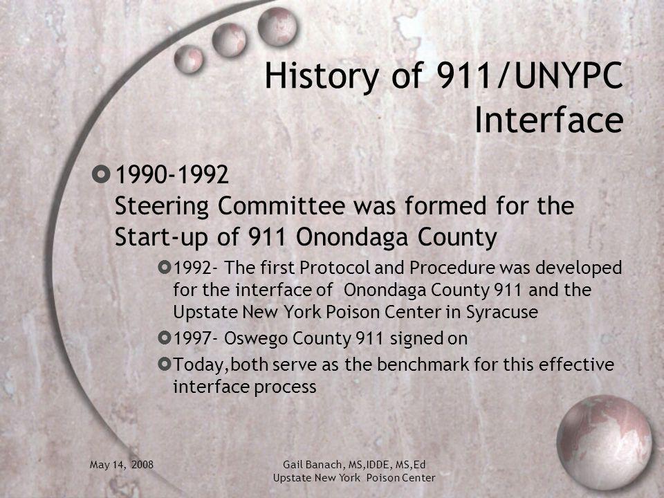 History of 911/UNYPC Interface