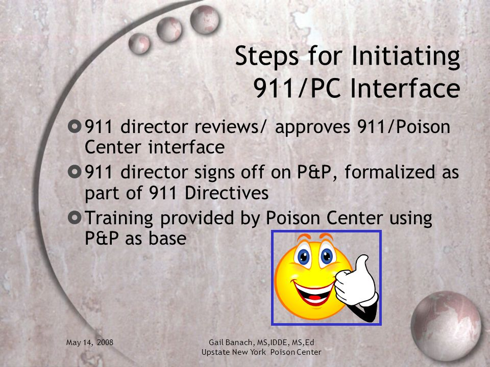 Steps for Initiating 911/PC Interface