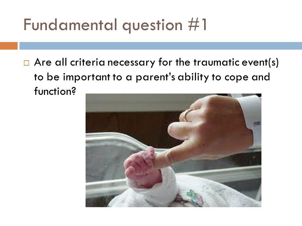 Fundamental question #1