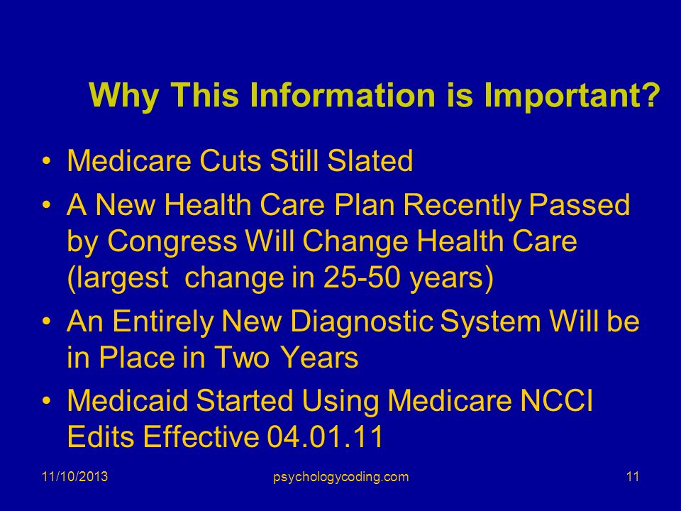 Why This Information is Important