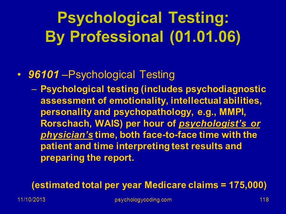 Psychological Testing: By Professional ( )