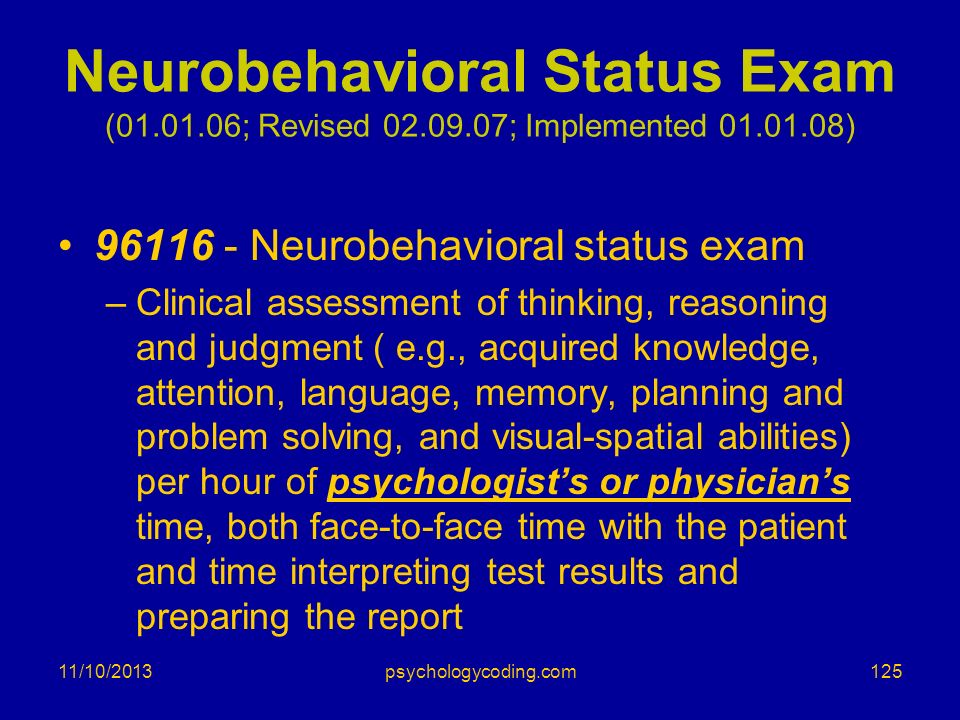 Neurobehavioral Status Exam ( ; Revised