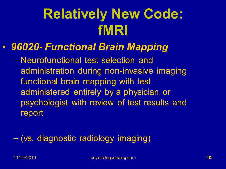 Relatively New Code: fMRI
