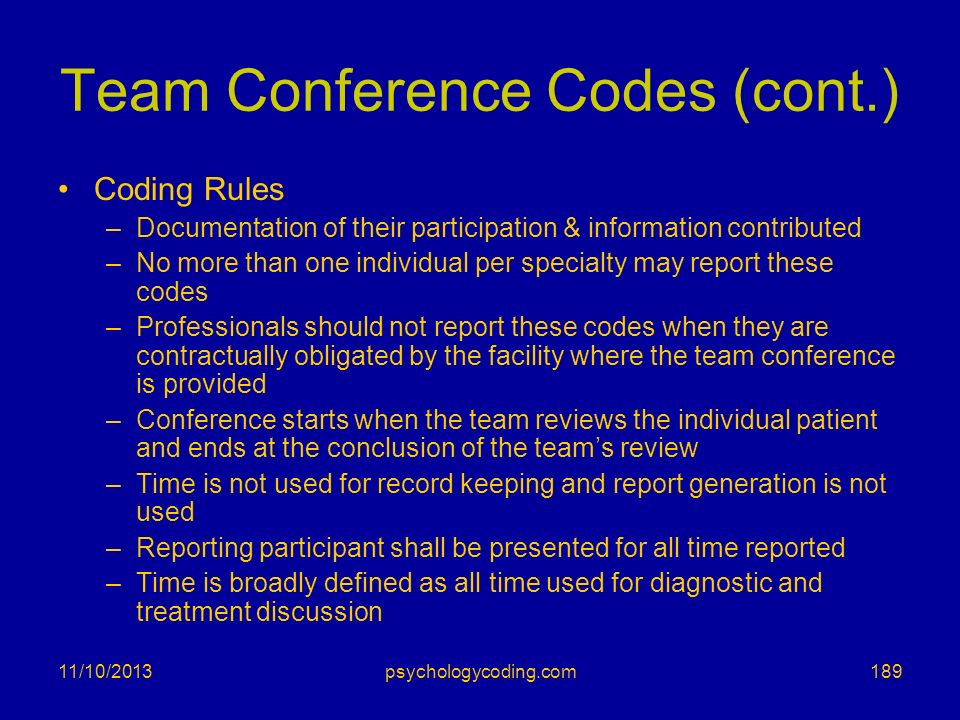Team Conference Codes (cont.)