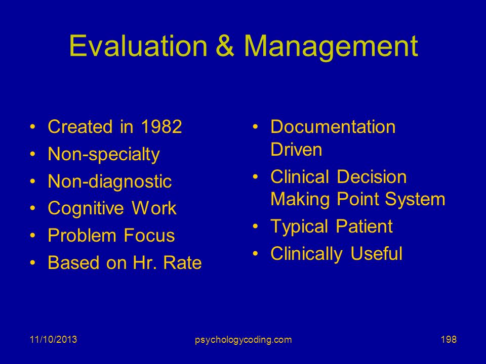Evaluation & Management