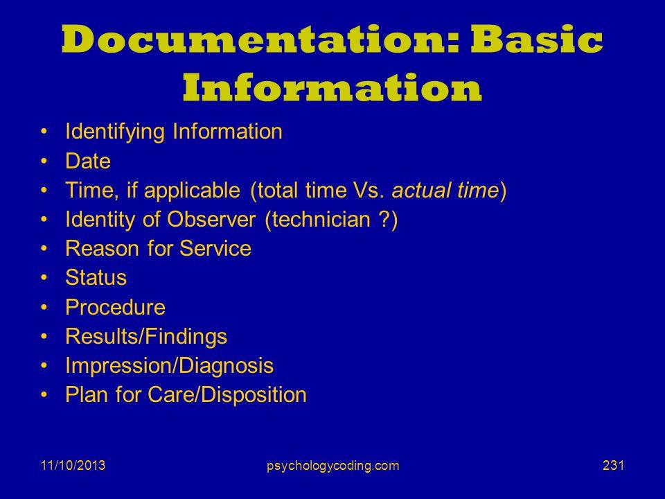Documentation: Basic Information