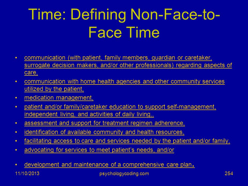 Time: Defining Non-Face-to-Face Time