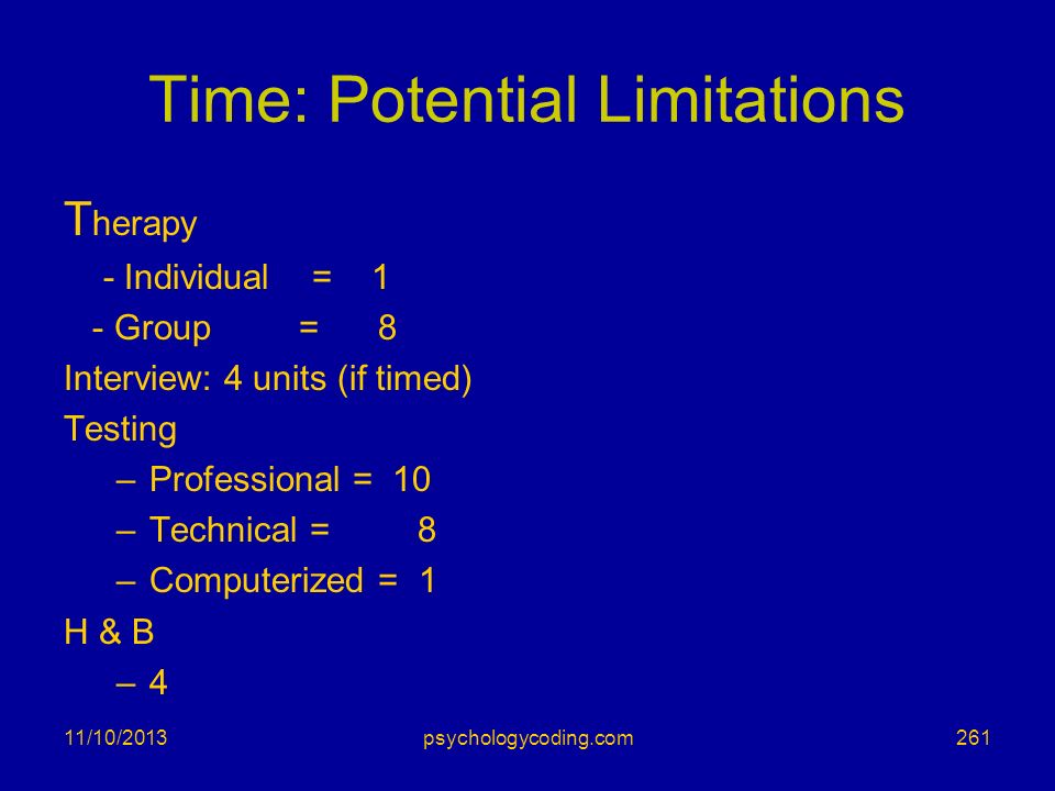 Time: Potential Limitations