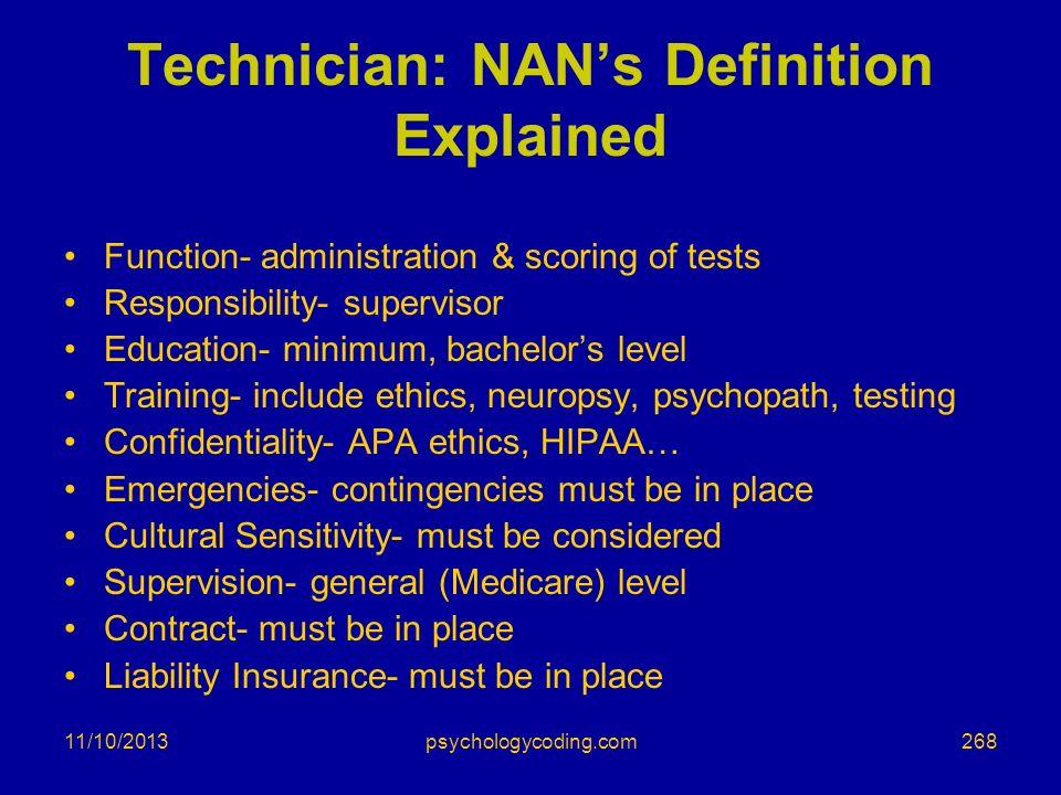 Technician: NAN's Definition Explained