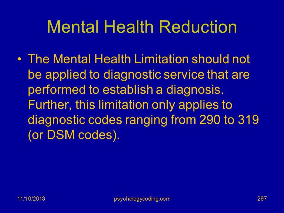 Mental Health Reduction
