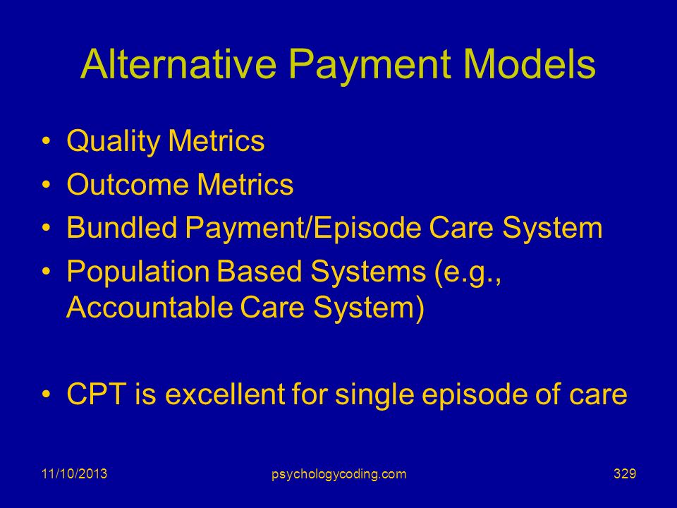 Alternative Payment Models